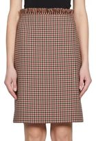 Nina Ricci Checked Wool Pencil Skirt