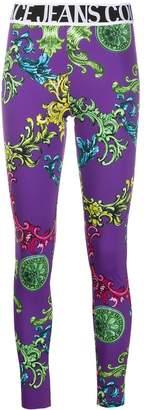 Versace all-over print leggings
