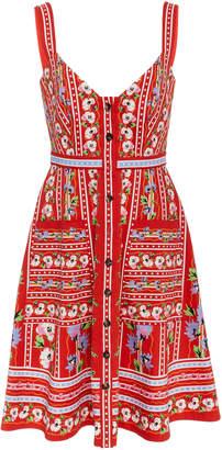 Saloni Fara Short-B Poppy Cotton dress