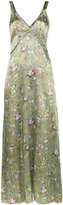 R 13 Floral Print Slip Dress