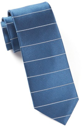 Tie Bar Institute Stripe Blue Tie