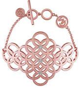 Catherine Malandrino 18K Rose Goldplated and 0.1TCW Diamond Circle Linked Cluster Bracelet