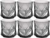Bormioli Cassiopea Tumbler Glasses - 330ml (11.25oz) - Grey - Set of 6