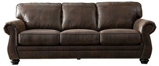 "Darby Home Co 90"" Rolled Arms Sofa Upholstery Color: Walnut Brown"