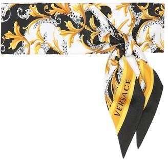 Versace Acanthus silk-twill scarf