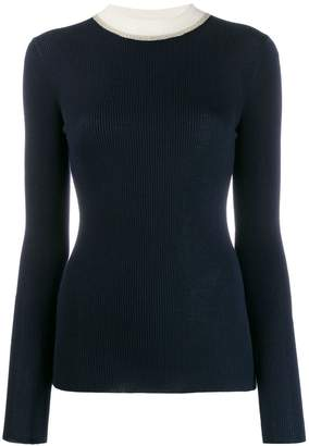 Missoni contrast collar jumper