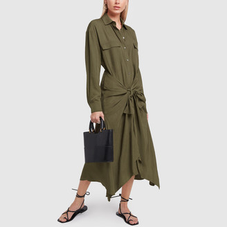 Vince Tie Front Shirt Dress - X-Small