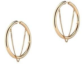 DEMARSON Riley 12K Goldplated Chain Hoop Earrings