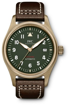 IWC Pilot Spitfire Bronze & Leather Strap Watch