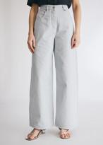 Jacquemus Women's Le Jean De Nimes in Light Grey, Size 25   100% Cotton