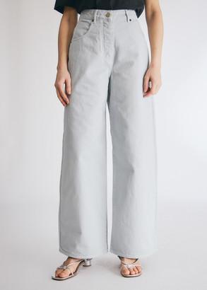 Jacquemus Women's Le Jean De Nimes in Light Grey, Size 26 | 100% Cotton