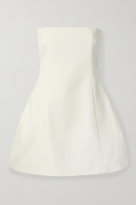 KHAITE Ginger Strapless Faille Mini Dress - White