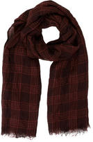 Brunello Cucinelli Plaid Sheer Scarf w/ Tags