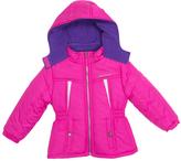 Pink Platinum Pink Stamp Active Puffer Jacket - Infant Toddler & Girls