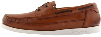 Oliver Sweeney Sweeney London Lufton Boat Shoes Dark Tan Brown