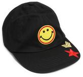 Steve Madden Black Smiley Face Patch Baseball Cap