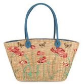 Franchi Floral-Pattern Woven Tote
