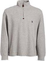 U.S. Polo Assn. Gray Quarter-Zip Pullover Sweater