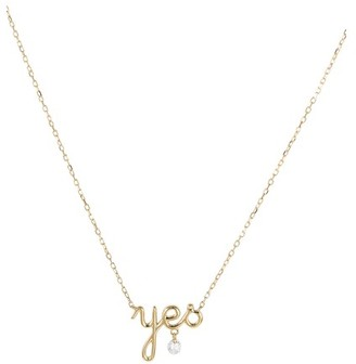 "PERSÉE Around the Words ""Yes"" necklace"