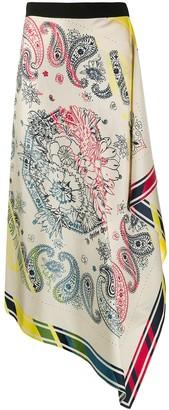 Golden Goose Kaylee bandana-print silk skirt