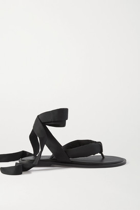 Ganni Shell And Leather Sandals - Black