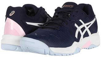 Asics Kids GEL-Resolution 8 Tennis (Little Kid/Big Kid) (Peacoat/Cotton Candy) Girls Shoes