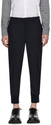 Neil Barrett Navy Wool Cuffed Trousers