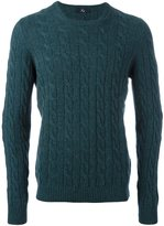 Fay cable knit jumper
