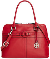 Giani Bernini Covered Ring Nappa Leather Dome Satchel, Only at Macy's