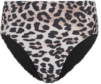Ganni High-rise bikini bottoms