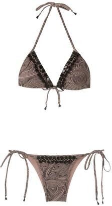 AMIR SLAMA Embellished Triangle Bikini Set