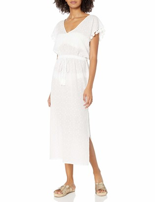 Seafolly Women's Textured Cotton Maxi Dress Kaftan Swimsuit Cover Up