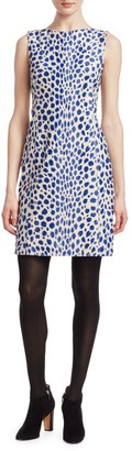 Akris Punto Animal Dot Sleeveless Sheath
