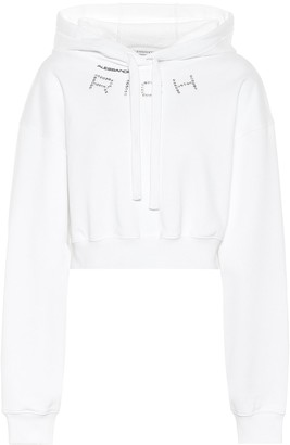 Alessandra Rich Embellished cotton hoodie