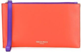 Emilio Pucci Colourblocked Leather Pouch
