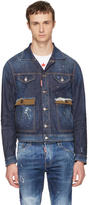 DSQUARED2 Blue Denim Red Spots Jacket