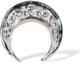 I+I II - Crescent Moon 14-karat Rose Gold Diamond Earring