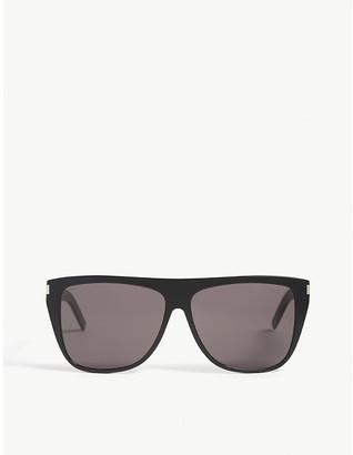 Saint Laurent SL1 slim square-frame sunglasses
