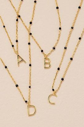Beaded Monogram Necklace