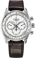 Zenith Men's 'El primero' Swiss Automatic Stainless Steel and Leather Dress Watch, Color:Brown (Model: 032080400.01C)
