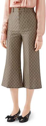Gucci GG Wool Canvas Culotte Pants