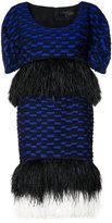 Proenza Schouler trim patterned dress - women - Viscose/Acetate/Silk/Ostrich Egg - II