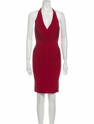 Herve Leger Halterneck Mini Dress w/ Tags Red
