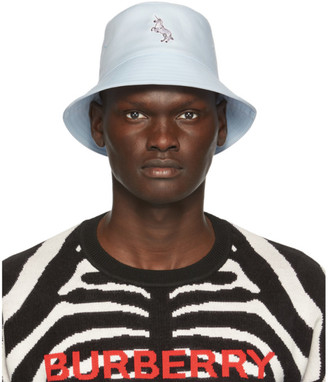 Burberry Blue Graphic Bucket Hat