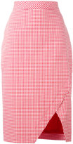 Altuzarra checked skirt - women - Cotton/Polyester/Spandex/Elastane/Viscose - 36