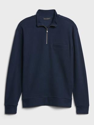 Banana Republic Organic Cotton Half-Zip Sweatshirt