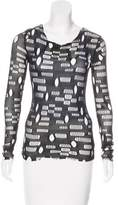 Anna Sui Mesh Long Sleeve Top