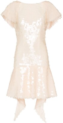 Natasha Zinko Silk Sequin Embellished Dress