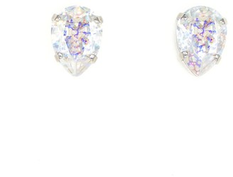 Rosaspina Firenze Drop Stud Earrings In White Patina