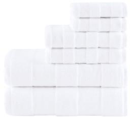 Madison Home USA Signature Parker Luxury Stripe Jacquard Zero Twist 600GSM Cotton 6-Pc. Towel Set Bedding
